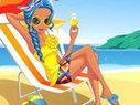 Jeu d'habillage � la plage